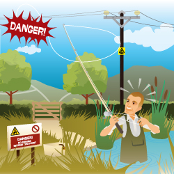 Look up & look out: beware of overhead electricity lines