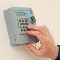 Single rate keypad meter